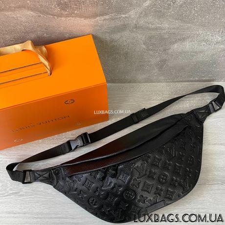 Мужская кожаная поясная сумка бананка Louis Vuitton Луи Виттон
