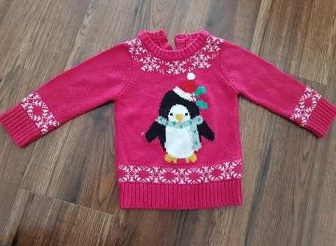 Sweterek świąteczny dla dziewczyki