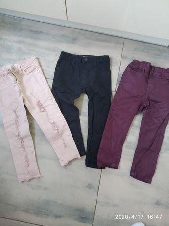 Spodnie  dziewczęce 92-98