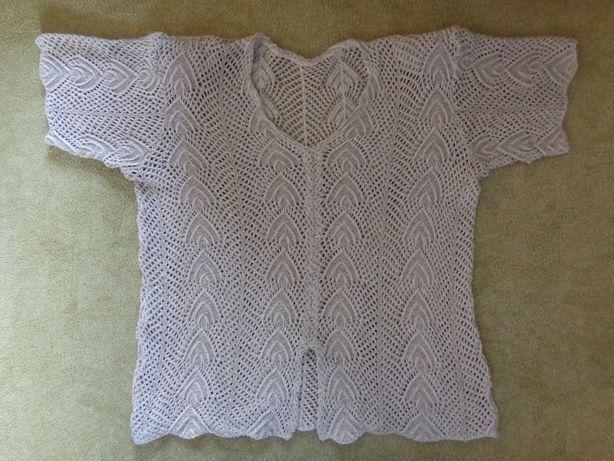 блузка футболка вязаная
