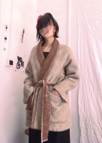 Пальто, кимоно из шерсти альпаки