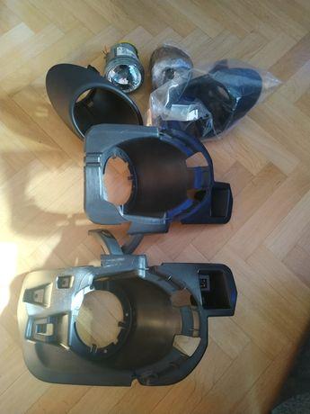 Komplet mocowań halogenów + halogeny Peugeot Partner II