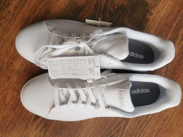 Adidas Advantage base  skórzane buty sportowe męskie nowe 48