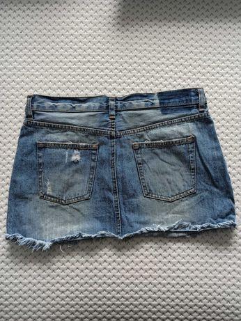 Mini spódnica jeansowa M
