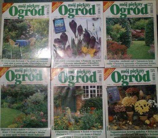 6 starych numerów czasopisma Mój piękny ogród