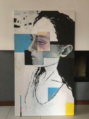 Sprzedam niesamowity obraz 150x80 cm. Nowoczesny, akryl, werniksowany!