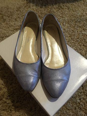 buty pantofle baleriny niebieskie rozm. 36