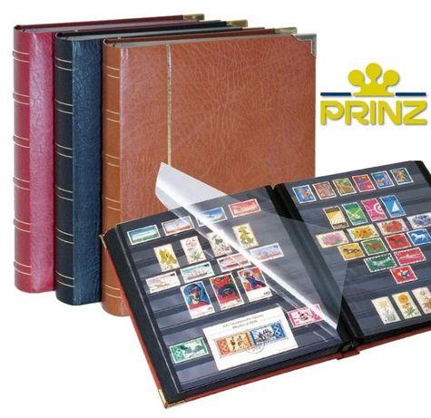 Кожаный альбом для марок Prinz Royal