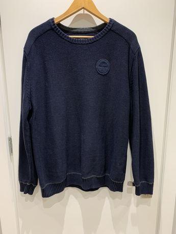 Granatowy sweter Napapijri, XL