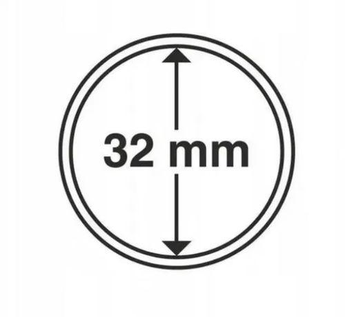 Kapsle na monety 32 mm Kolekcjoner - op. 10 szt NOWE 10 zł