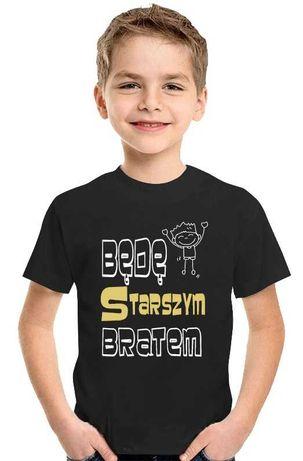 T-shirt Koszulka dla Dziecka Będę Starszym Bratem wzrost ( 110-116 cm)
