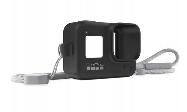 Etui silikonowe + Smycz GoPro 8 HERO8 Black Czarny AJSST-001