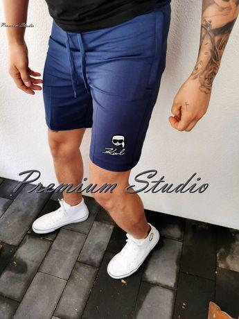 3XL / Karl Lagerfeld męskie spodenki dresowe niebieskie