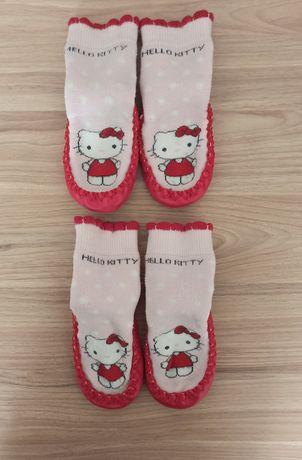 Носочки Носки Пинетки Чешки Тапочки с подошвой Размер 18-20 длина 11см