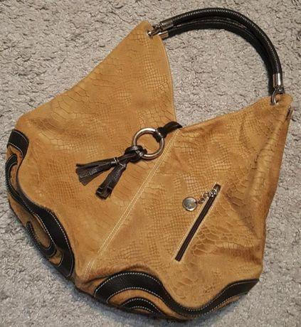 Оригинал.Шикарная,кожаная сумка италия,кожа питона,сумка-шоппер-мешок
