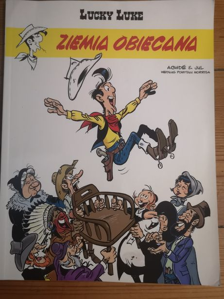 Komiks pt Lucky Luke Ziemia Obiecana tom 80