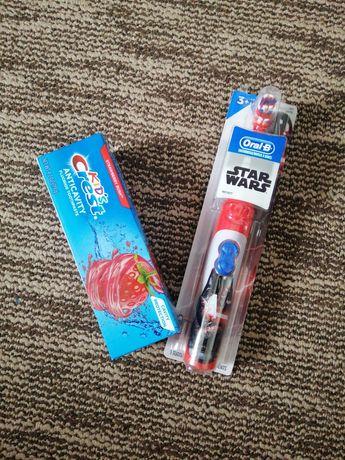 Електрична щітка, зубна паста Crest, зубна щітка дитяча
