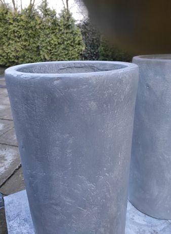 betonowe donice wysokie walce 30 / h 65 cm