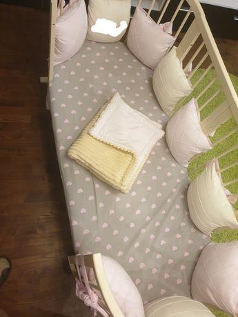Подушки на бортик дитячого ліжка детской кроватки