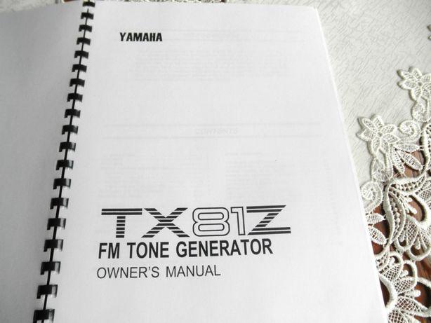 Instrukcja obsługi YAMAHA TX81Z. Owner's Manual.