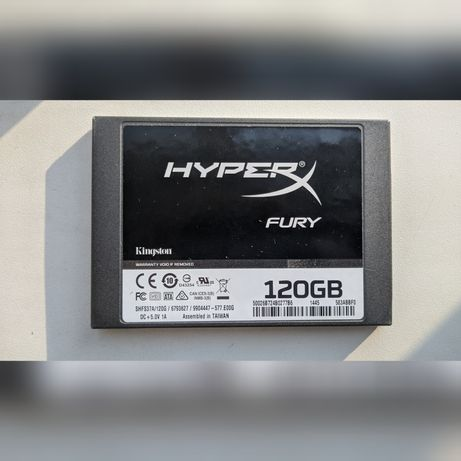 Продам ssd Hyper x fury на 120 ГБ