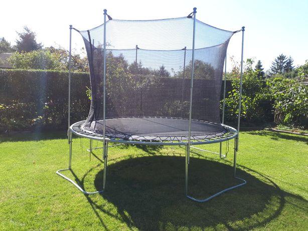 Trampolina 305 cm ogrodowa obciążenie do 200 kg + drabinka