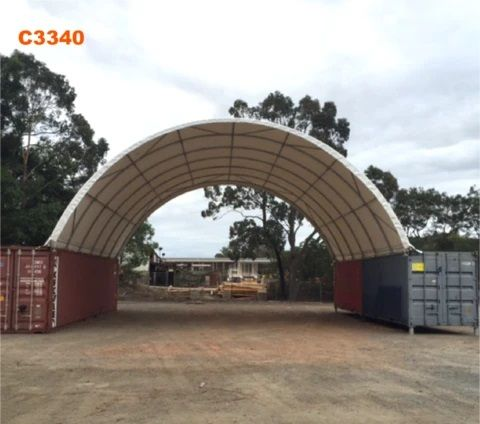 Zadaszenie kontenerów hala namiotowa 10x12 m wiata kontenerowa morkich