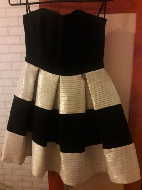 Sukienka czarno-złota.XS.sylwester,wesele.