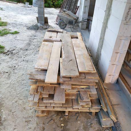 Deski szalunkowe po jednej budowie