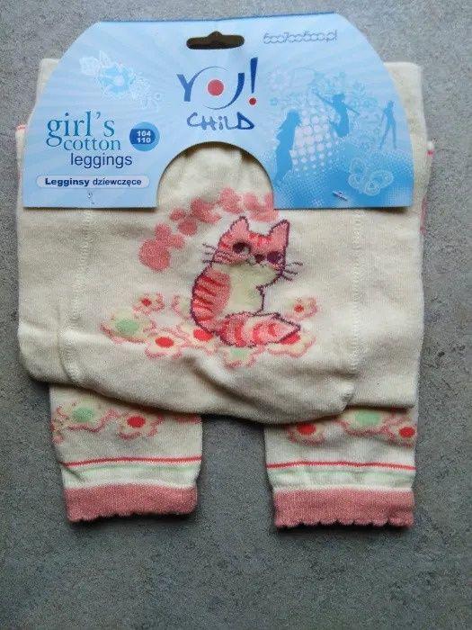 Zestaw Getry legginsy kalesony bawełniane 104-110 YO Grabowo - image 1