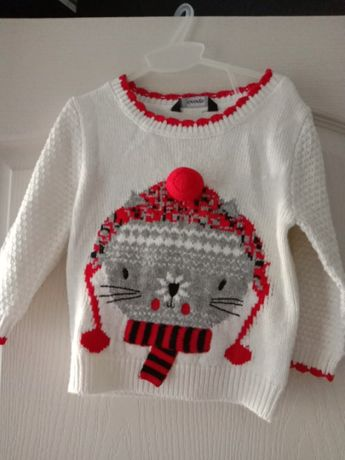 Нарядный свитер на 1-2года George