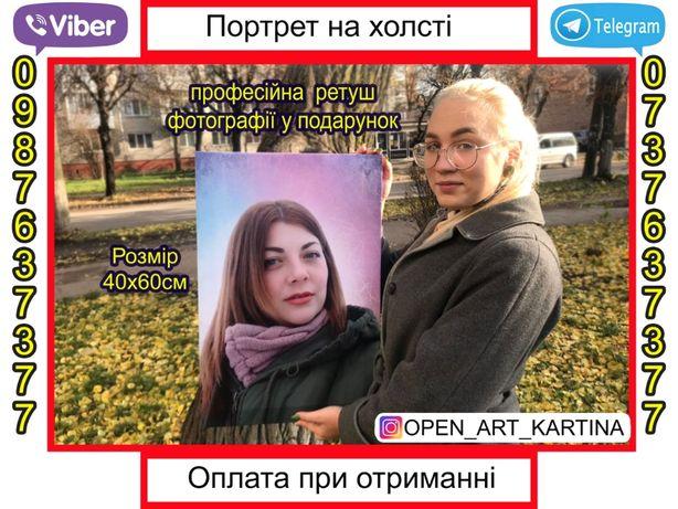 Подарок! Картина на холсте с Вашей фотографией/изображением! ТОП!