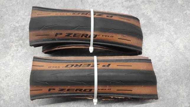 Opony szosowe Pirelli P 0 Velo 28c skin wall brązowy bok