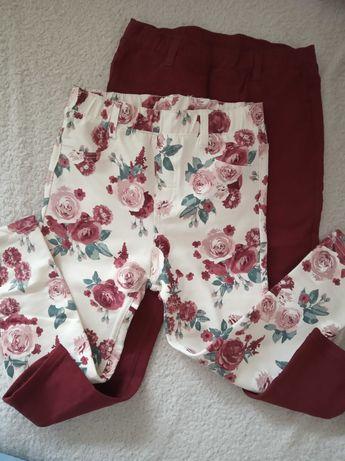 Tregginsy legginsy HM róże i bordo 2 pary 98