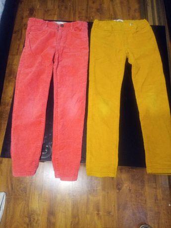 Spodnie dziewczęce sztruks 128