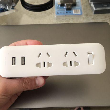 Сетевой фильтр розетка Xiaomi с портами USB