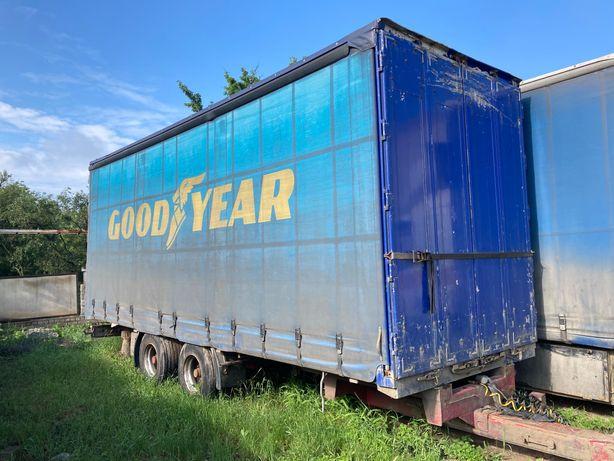 Прицеп грузовой тандем. Обмен. Прицеп тент штора. Прицеп тентованный.