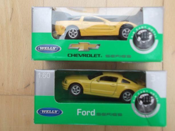 2 carros miniatura marca Welly / Nex Models Escala 1:60