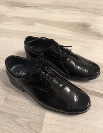Pantofle skorzane chłopięce