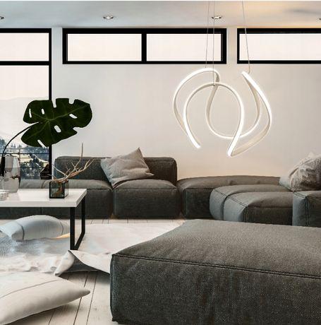 LAMPA sufitowa wisząca RING CZARNA / BIAŁA LED + Pilot Nowa