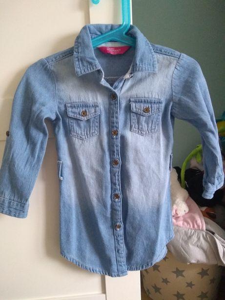 Dłuższa koszula sukienka 92