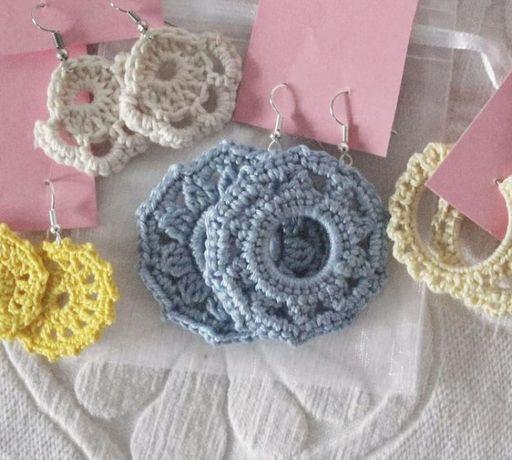 Brincos em crochet handmade