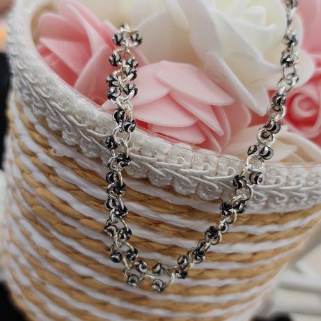 Piękny ozdobny łańcuszek srebrny HIT CENOWY