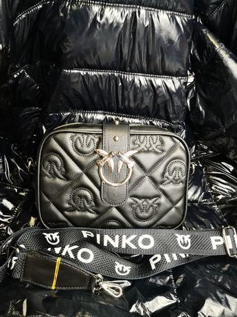 Torba Pinko srebrne ozdoby torebka na ramie nowośćlogowana