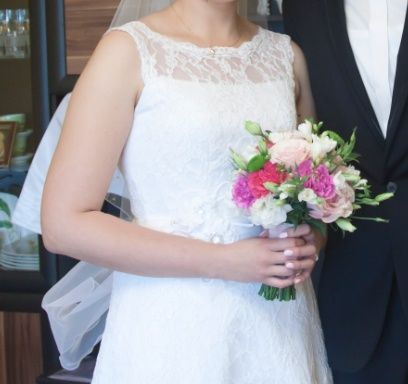 Suknia ślubna DŁUGA!!! + bolerko