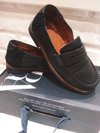 Buty skórzane mokasyny,skóra naturalna rozmiar 27