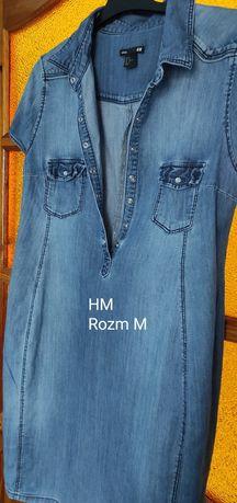 Sukienka ciążowa jeansowa H&M rozmiar M