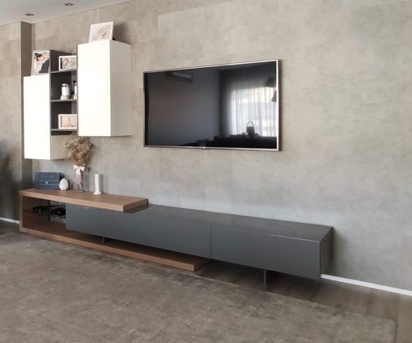 Móvel TV + três colunas suspensas Braga - imagem 1
