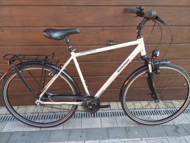 Rower męski miejski aluminium Hydraulika 8 biegów Nexus