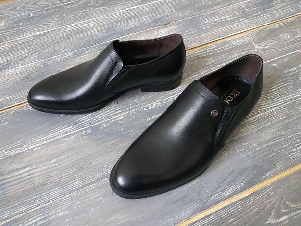 Шкіряні Туфлі на резинці 39 - 49 розміри, Туфли Вибирай вже!